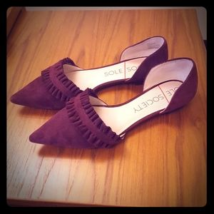 Sole Society Genuine Suede Flats Size 8.5